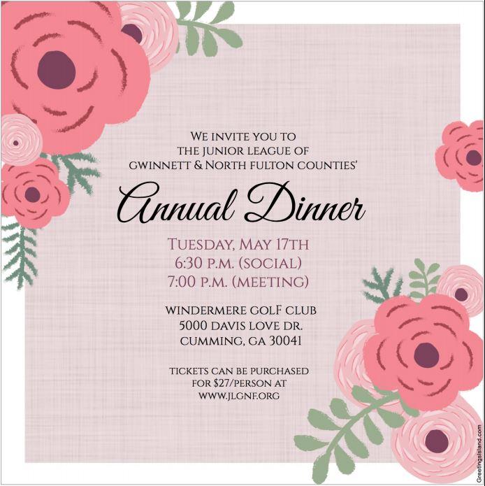 Annual Dinner Invite