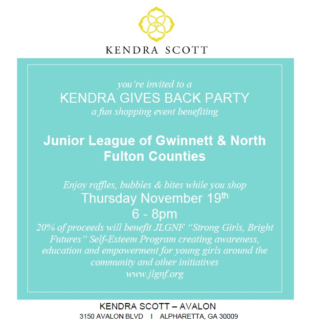 JLGNF Kendra Scott Gives Back Party Nov. 2015